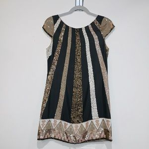 All Saints Aztec Sequined Dress UK 10 US 6